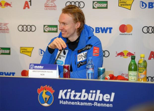 """© hahnenkamm.com /  Henrik Kristoffersen im Red Bull Interview: """"Im Moment ist Marcel der Mann, den es zu schlagen gilt."""""""