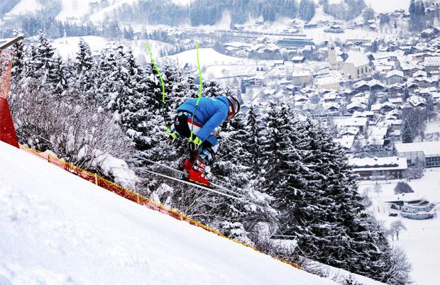 © hahnenkamm.com  / Marcel Hirscher nutze am Mittwoch die super Bedingungen am Hahnenkamm für eine Trainingseinheit .