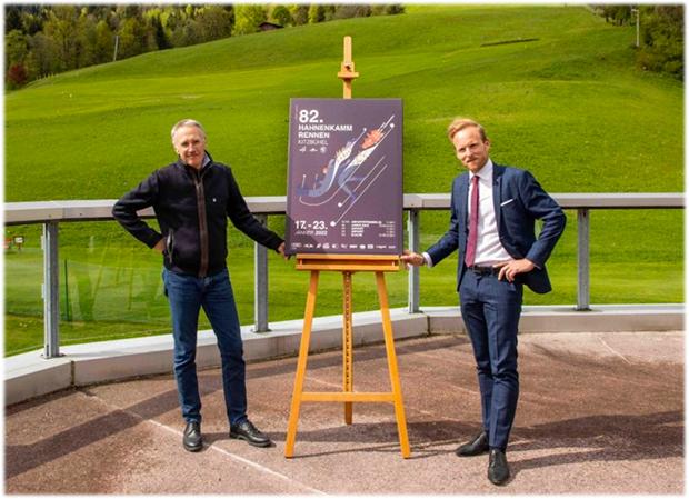 Plakatpräsentation Dr. Michael Huber & BTV Vertreter Peter Kofler © Kitzbüheler Ski Club (K.S.C.)