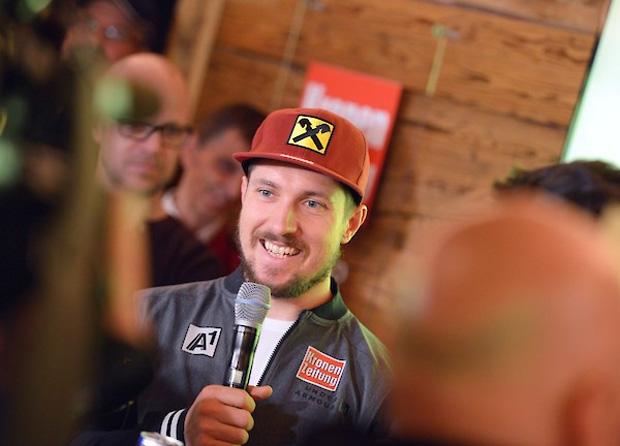 """© hahnenkamm.com /  Hahnenkamm-Pressekonferenz mit Marcel Hirscher: """"Ich konzentriere mich voll und ganz auf den Slalom"""""""