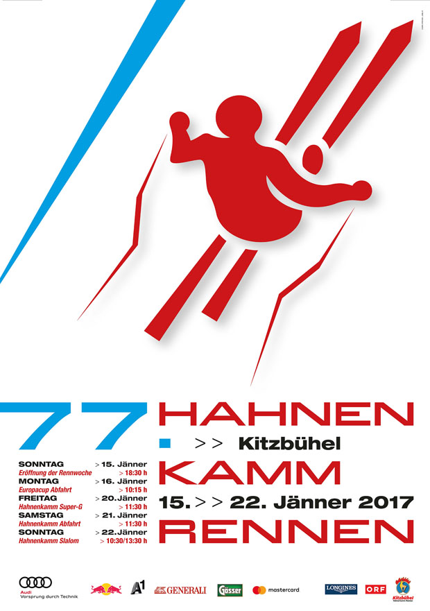 © hahnenkamm.com / Georg Pircher gestaltet Hahnenkamm-Plakat 2017