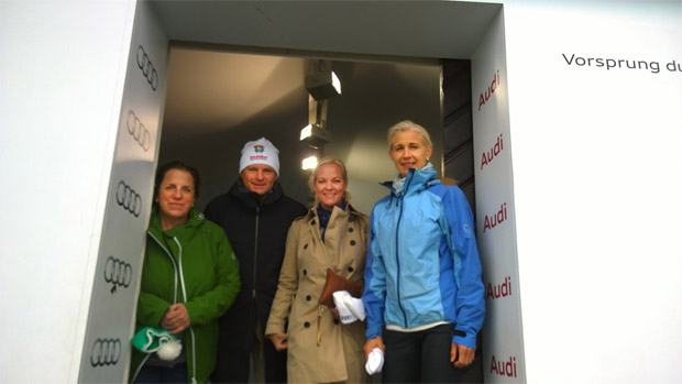 © hahnenkamm.com  /  v.l.: Barbara Thaler, Pal Troye, Kristin Vestgren Saeteroy, Wenche Berger