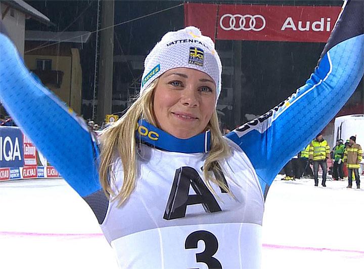 Wieder Zweite: Frida Hansdotter (SWE)