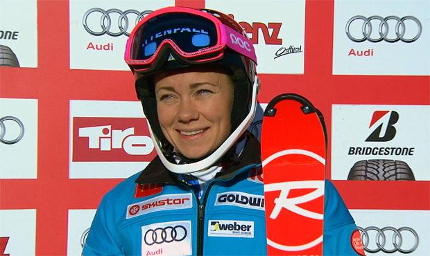 Die Slalomweltcupführende Frida Hansdotter aus Schweden