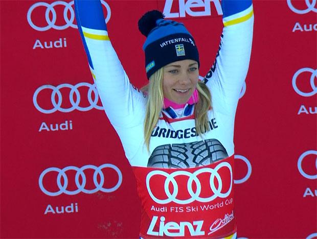 Frida Hansdotter siegt beim Slalom in Lienz knapp vor Wendy Holdener