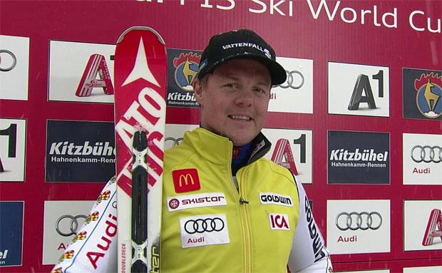 Mattias Hargin gewinnt am Ganslernhang