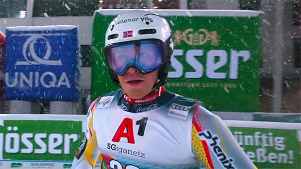 Timon Haugan hat im 2. Europacup-Riesenslalom von Folgaria die Nase vorn