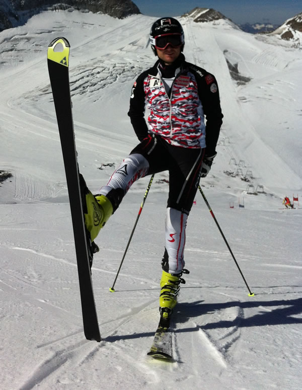 Reinfried Herbst in der neuen Saison auf Fischer Ski