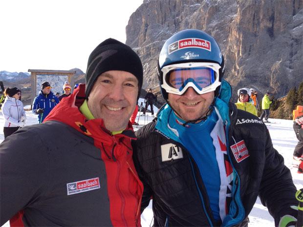 Guido Heuber mit Georg Streitberger in Gröden (Foto: Guido Heuber / privat)