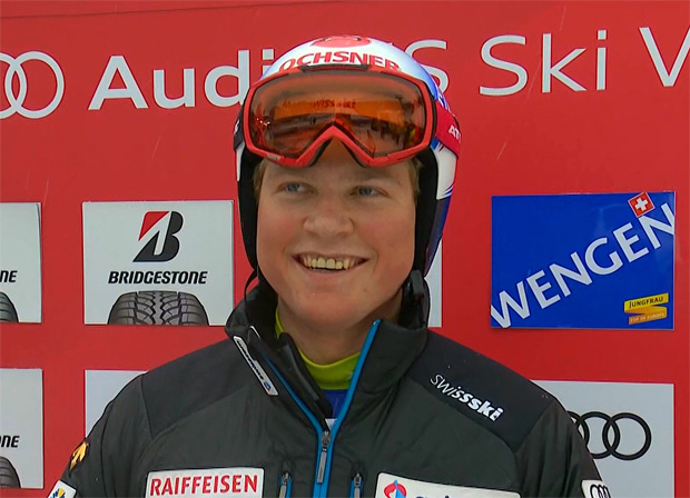 Niels Hintermann krönt sich zum Kombi-König am Lauberhorn