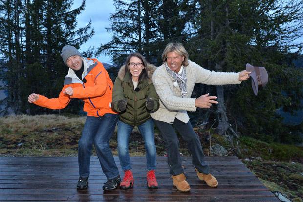 Christian Neureuther, Maria Köstlinger, Hansi Hinterseer (Foto ©ServusTV Joensson)