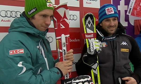 Hirscher und Deville führen zeitgleich nach dem 1. Durchgang beim Slalom von Adelboden