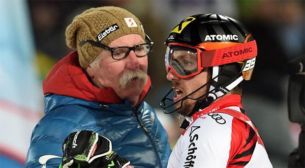 Patrick Feurstein hat mit Ferdinand Hirscher einen ganz besonderen Betreuer (Foto: © Archivio FISI/Marco Tacca/Pentaphoto)
