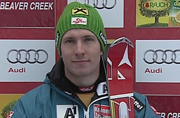 Marcel Hirscher führt beim Slalom von Beaver Creek