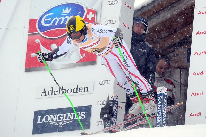 Marcel Hirscher beim Start - © (PHOTOPRESS/Samuel Truempy)