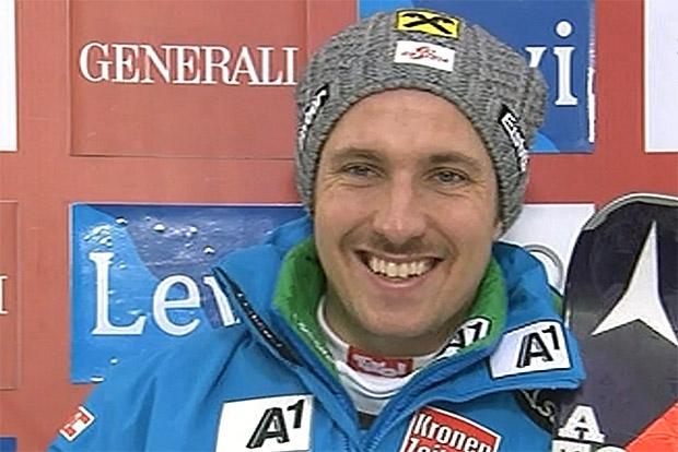 Marcel Hirscher übernimmt Führung nach dem 1. Durchgang beim Slalom in Levi