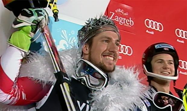 Souveräner Erfolg für Marcel Hirscher beim heutigen Slalom in Zagreb/Agram