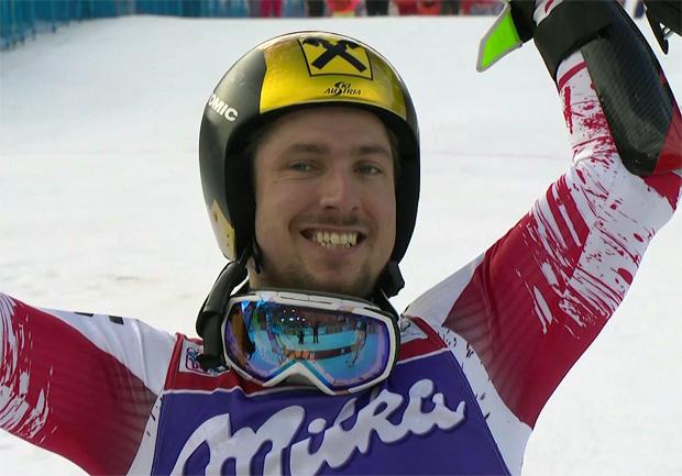 Marcel Hirscher gewinnt Riesenslalom in Adelboden