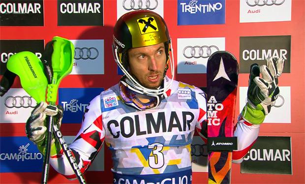 Marcel Hirscher hatte am Dienstag in Madonna di Campiglio einen Schutzengel an seiner Seite