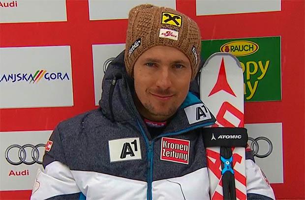 Marcel Hirscher geht als Führender in das Riesenslalom-Finale von Kranjska Gora