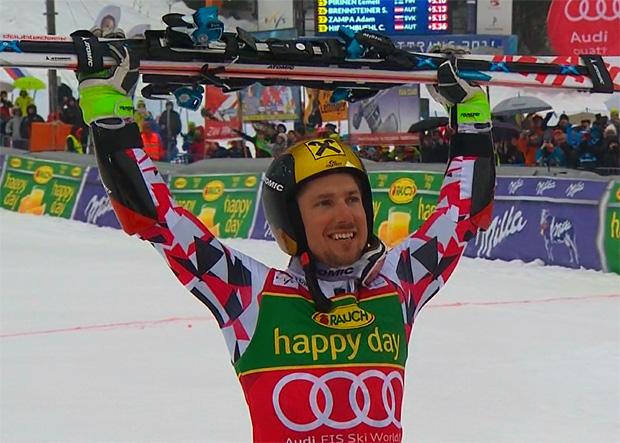 Marcel Hirscher feiert 38. Weltcupsieg und sichert sich die große Gesamtweltcupkugel und den Sieg in der Riesenslalom Disziplinenwertung