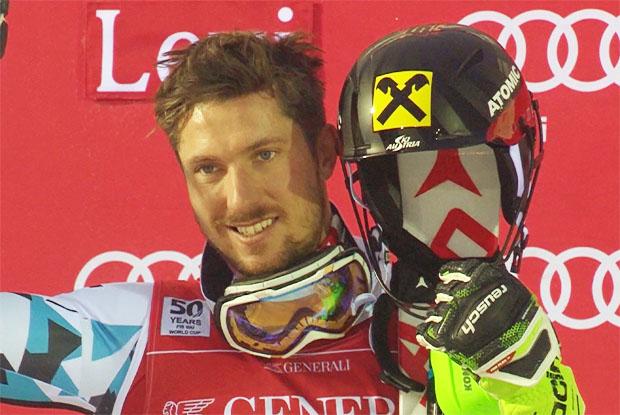 Marcel Hirscher feiert in Levi seinen 40. Weltcupsieg