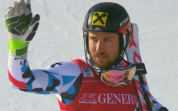 Marcel Hirscher musste sich nur dem Norweger Hernik Kristoffersen geschlagen geben.