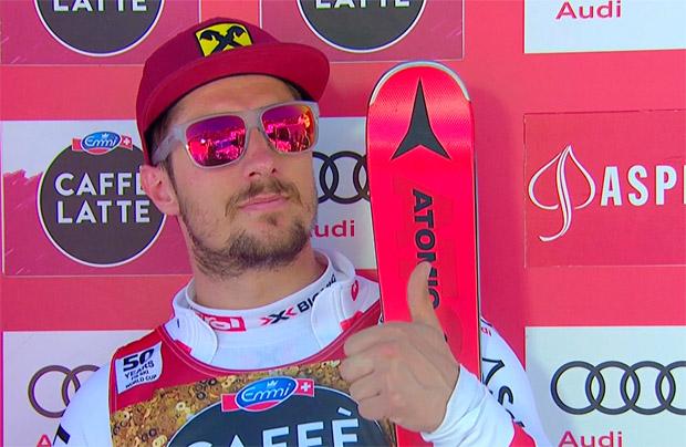 Marcel Hirscher führt nach dem 1. Slalom-Durchgang in Aspen