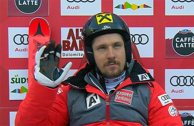 Marcel Hirscher zähmt die Gran Risa in Riesentorlauf-Durchgang eins