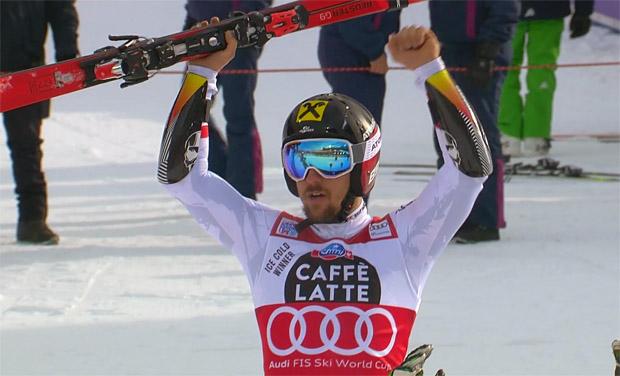 Marcel Hirscher feiert 5. Sieg auf Gran Risa
