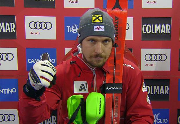 Halbzeitführung für Marcel Hirscher beim Slalomklassiker in Madonna di Campiglio