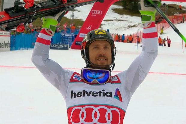 Marcel Hirscher feiert 52. Weltcupsieg beim Slalom von Adelboden 2018