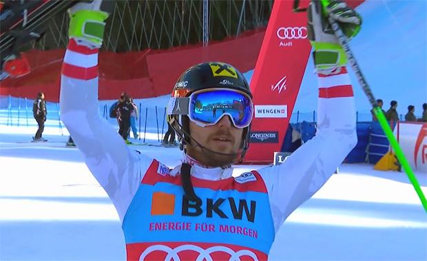 Marcel Hirscher gewinnt Lauberhorn Slalom in Wengen 2018