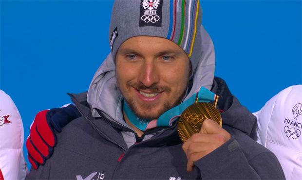 Olympia-Kombi-Gold für Marcel Hirscher.