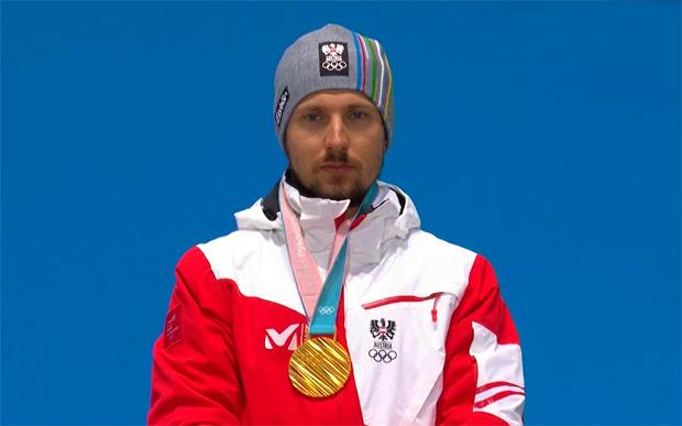 ÖSV Quartett mit Goldbank Hirscher ist bereit für den Olympia-Slalom der Herren