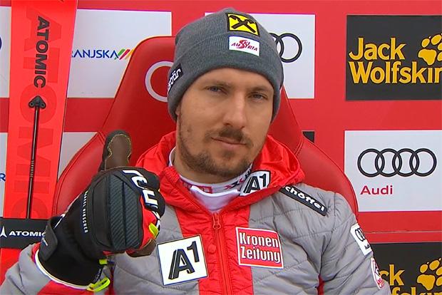 Marcel Hirscher übernimmt Führung beim Slalom in Kranjska Gora
