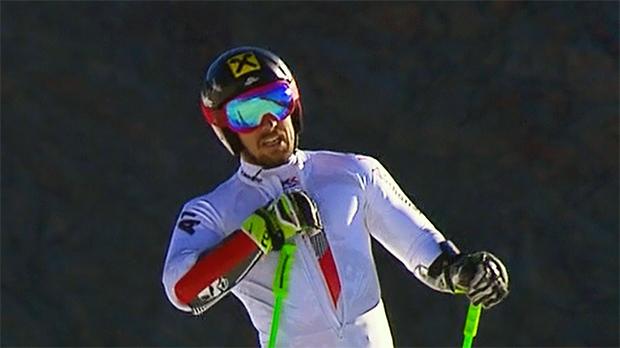 Marcel Hirscher nutzt die guten Trainingsmöglichkeiten auf dem Dachsteingletscher