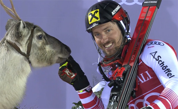 """Mr. Snow"" und Marcel Hirscher."