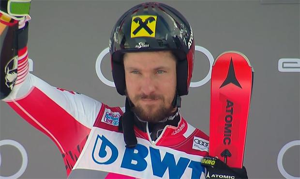 Marcel Hirscher mit Rang zwei happy