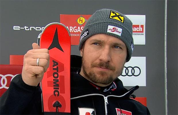 Marcel Hirscher übernimmt Führung beim Slalom in Saalbach-Hinterglemm
