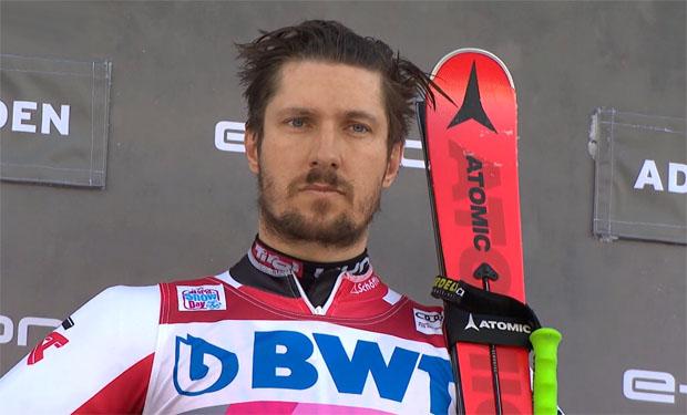 Die Adelbodener Kuhglocken läuten auch heute für Riesenslalomsieger Marcel Hirscher