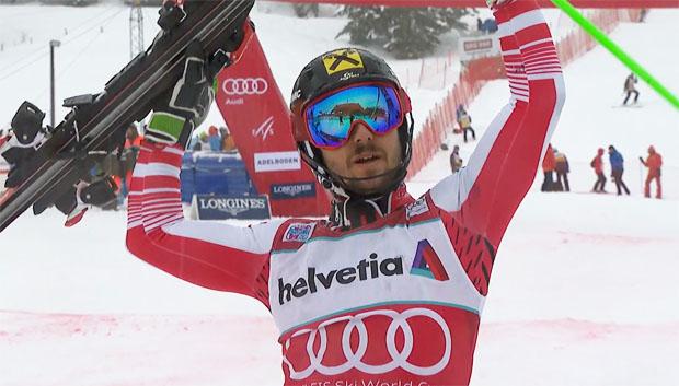 Marcel Hirscher auch beim Slalom am Chuenisbärgli unschlagbar