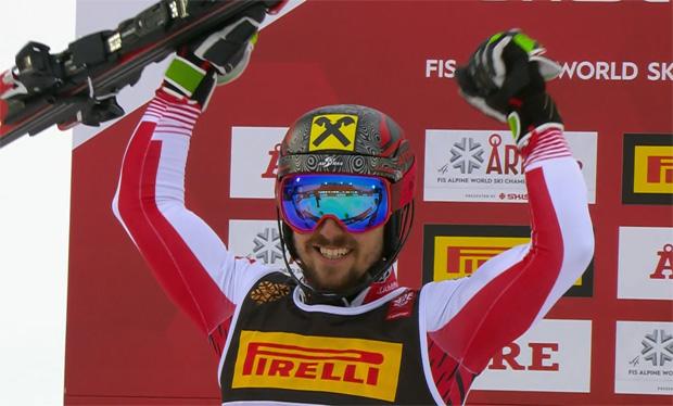 SKI WM 2019: Slalom-Weltmeister Marcel Hirscher führt ÖSV-Dreifachsieg in Are an