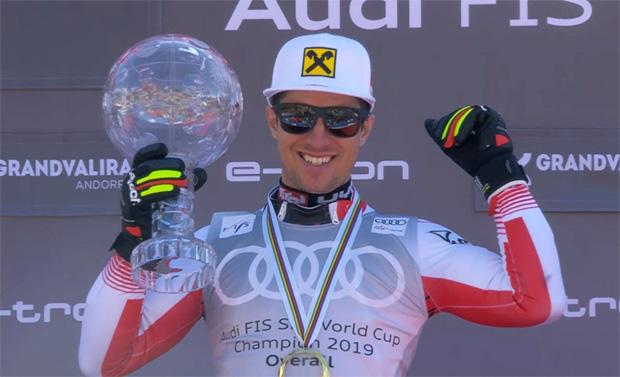 8. Gesamtweltcup-Sieg für Marcel Hirscher