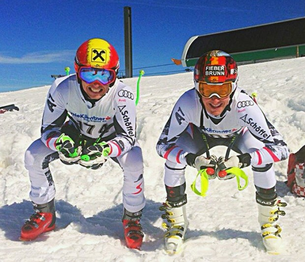 © facebook Marcel Hirscher & Manuel Feller - next downhill generation