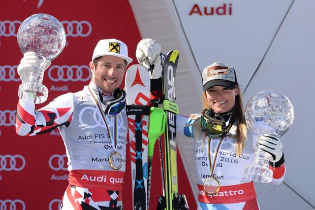 © Ch. Einecke (CEPIX) / Marcel Hirscher und Lara Gut gewinnen alpinen Gesamtweltcup