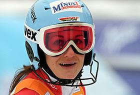 Kathrin Hölzl muss in Kranjska Gora erneut pausieren.