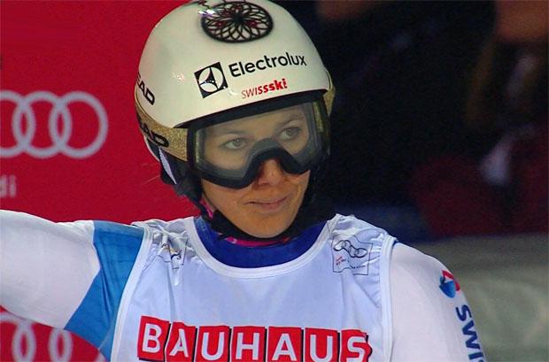 Wendy Holdener feiert  beim 99. Weltcuprennen ihren ersten Sieg