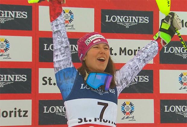 Die WM-Kombikönigin von St. Moritz heißt Wendy Holdener