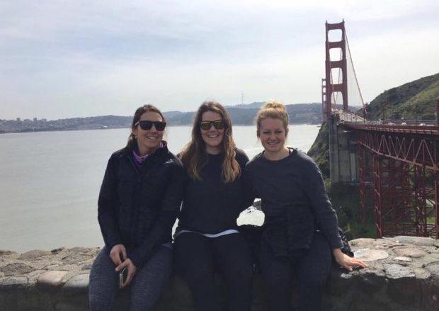 Wendy Holdener, Melanie Meillard und Simone Wild - Hello San Francisco - Next Stop Squaw Valley (Foto: Wendy Holdener / Facebook)